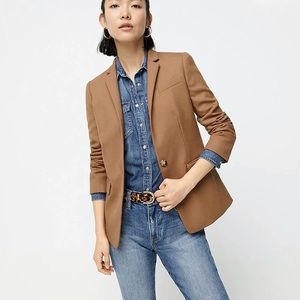 JCrew wool camel color blazer tailored one button